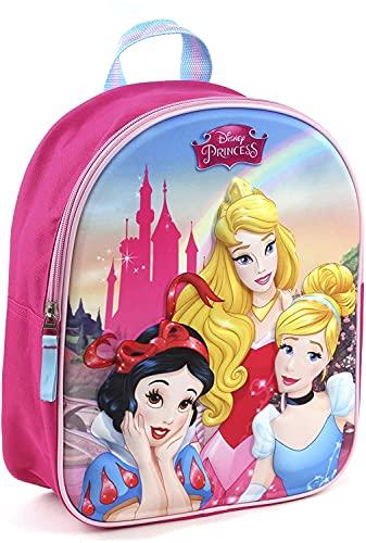 Disney Princesses Sac à Dos à roulettes - 3D - Rose