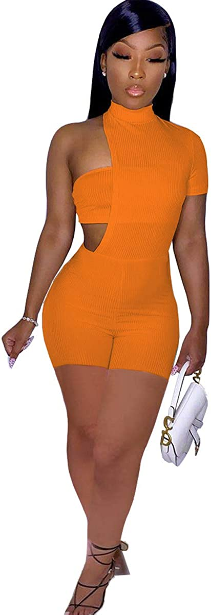 ZJFZML Neon Color Asymmetry Matching Two Piece Set for Women
