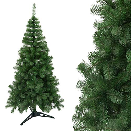 Arcoiris® Albero di Natale Artificiale Agrifoglio, Verde Naturale, Materiale in PVC, Supporto in Metallo (210 CM, Albero di Natale)