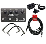 TC Electronic Ditto X4 Looper Two Patch Cables One Instrument Cable 960805005