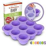 KIDDO FEEDO Recipiente para comida de bebé - Envase de silicona para...
