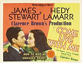 Pop Culture Graphics Come Live with Me Poster Movie (1941) Style B 11 x 17 Inches - 28cm x 44cm (James Stewart)(Hedy Lamarr)(Ian Hunter)(Verree Teasdale)(Donald Meek)