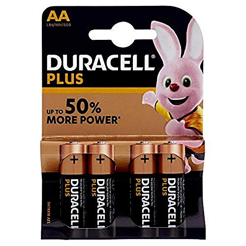 Duracell LR6/MN1500 Plus Power Type AA Alkaline Batteries, Copp