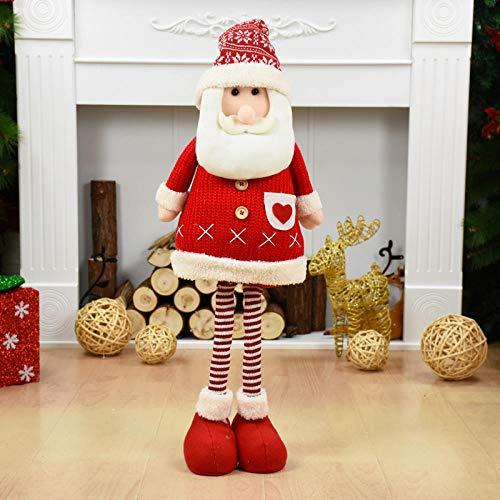 Grote grootte Kerstmis Poppen Intrekbare Kerstman Sneeuwman Elk Speelgoed Kerstmis Figurines voor Kid Red Kerstmis Boom Ornament