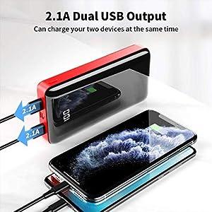 Bextoo powerbank 30000mah Große Kapazität Externe Akkus LCD Display Batterie Pack 2 Eingängen 2 Ausgängen Tragbares Ladegerät Handy akkupack USB C Power Bank für iPhone, Samsung Huawei, iPad