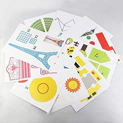 DOLYUU Modelli di Penne 3D, Stampo Carta 3D Penna di Stampa 3D, 20 Diversi Disegni, per Creare opere Migliori.