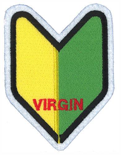 東洋マーク 初心者マーク VIRGIN 刺繍 ワッペン 接着芯タイプ D-3