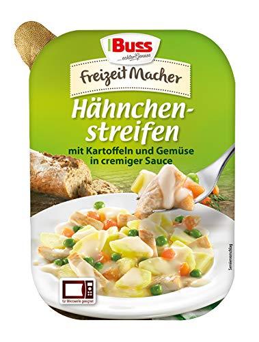Buss Hähnchenstreifen mit Kartoffeln und Gemüse in creminger Saucer, 300 g