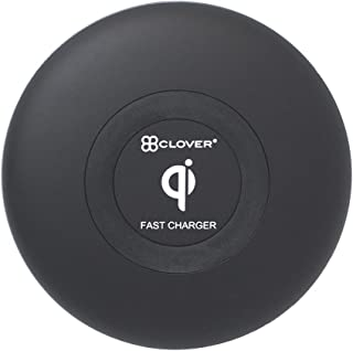Clover Wireless Charging Pad Non-slip Silicone Ultra-Slim Qi-Certified Fast Charge for iPhone,Android and more