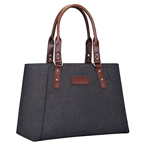 S-ZONE Damen Handtasche Leichte Große 15,6 Inch Laptop Schultertasche Shopper Casual Henkeltasche Handgelenkstasche Arbeitstasche Businesstasche Reisetasche Tote Bag Top-Griff Tasche
