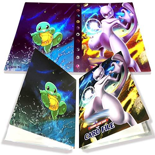 Yisscen Tarjetero Pokemon, Tarjetas coleccionables, álbum de Tarjetas, Carpeta de álbum Pokemon 30 páginas con Capacidad para 240 Tarjetas (Mewtwo)