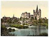 Photo Castle and cathedral Limburg Hesse Nassau A4 10x8