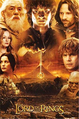 KVAQ 5D Diamond Painting Suite Lord of The Rings Movie Characters,DIY3D Round Diamond Embroidery Cross Stitch Rhinestones Home Decoration(11.8x15.8inch)