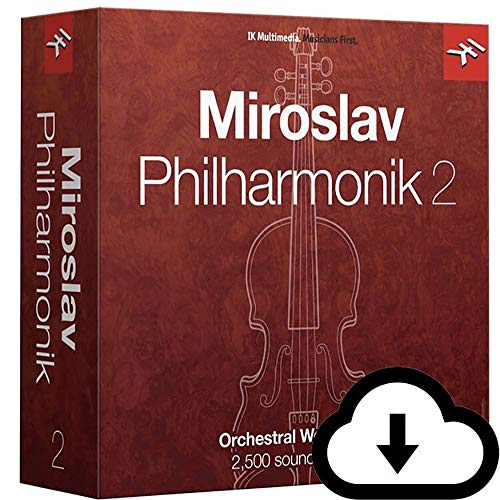 IK Multimedia Miroslav Philharmonik 2 for Windows and Mac - Complete Symphonic Sample Library For Composers (Download Card)