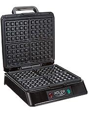 Adler Wafelijzer, 1300 W, zwart, meerkleurig, eenheidsmaat AD 3036