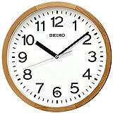 セイコークロック 掛け時計 天然色木地 直径30×4.7cm 電波 アナログ 木枠 KX249B