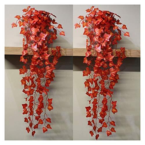 JUNQIAOMY Flores Artificiales 1pc Artificial Faux Hoja Guirnalda Boda Planta Falsa follaje decoración (Color : B)