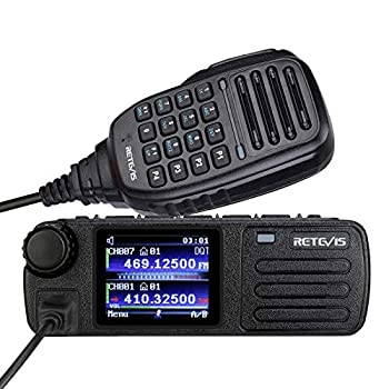 Retevis RT73 Digital Mobile Radios,DMR Radio Transceiver Built in GPS,Dual Band 4000 CH 200000+ Contacts Dual Time Slot,Mini 2 Way Radios with Microphone  1 Pack
