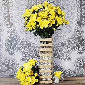 Tableclothsfactory 120 pcs Artificial GARDENIAS Flowers for Wedding Arrangements – Yellow