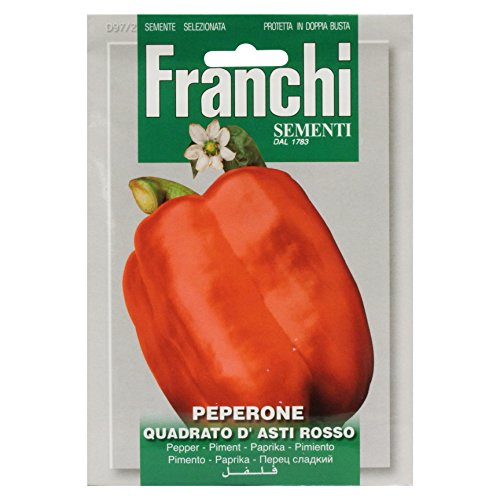 Seeds of Italy Franchi Poivron Rouge d'Asti