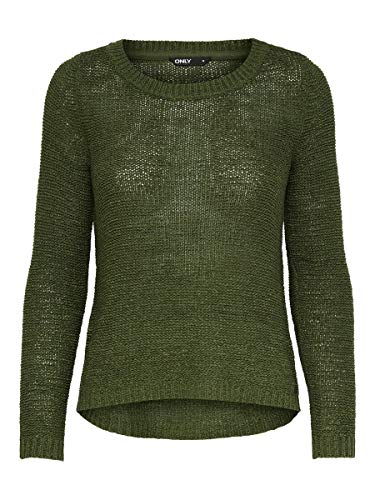 Only ONLGEENA XO L/S Pullover Knt Noos Maglione, Kalamata, M Donna