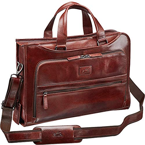 Mancini Leather Goods Vanizia Laptop/Tablet Single Compartment Briefcase with