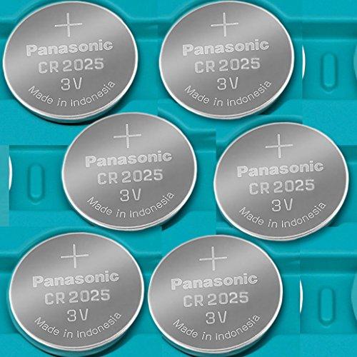 PANASONIC CR2025 ECR 2025 Batteries 6