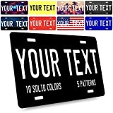 United Craft Supplies Custom License Plate for Cars - Your Text Here | 6 Font, 24 Pattern | 12x6 Personalized Aluminum Novelty License Plates - Solid Colors