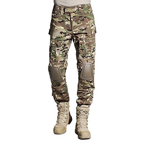 Sinairsoft Multicamo Airsoft Hose & Multicamo Combat Shirt (Hose, XXXL)