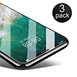 Coolreall Verre Trempé Compatible avec iPhone X/iPhone XS Film de Protection, Compatible Visage ID, Dureté 9H 0.25mm HD Ultra Transparent