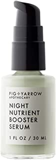 Night Booster Nutrient Serum for Face - 1 oz Anti Aging Serum with Aloe - Night Serum Boosts Collagen and Repairs Skin Damage - Antioxidant Serum For Face by Fig + Yarrow