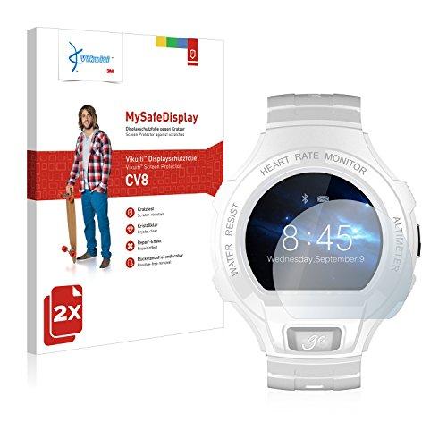 Vikuiti 2X Bildschirmschutzfolie CV8 von 3M kompatibel mit Alcatel Go Watch Schutzfolie Folie