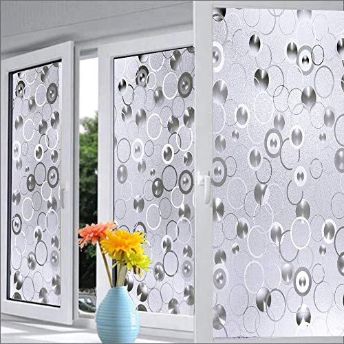 A1 Decor 3D Frosted Glass Vinyl Film Sticker for Windows Anti UV (12 x 96 Inch)