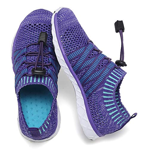 CIOR Boys & Girls Water Shoes Quick Drying Sports Aqua Athletic Sneakers Lightweight Sport Shoes(Toddler/Little Kid/Big Kid) U1ELJSX010-Purple-26