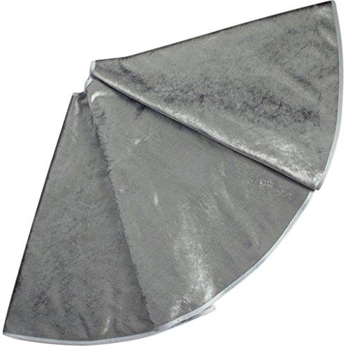 SORRENTO EXTRA Large 50' Christmas Tree Skirt Velvet Silver Tree Skirt
