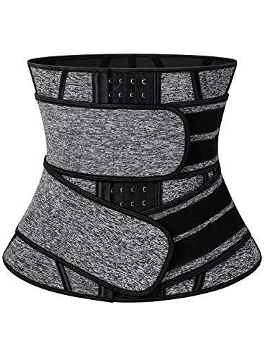 SLIMBELLE Sweat Waist Corset Trimmer Belt - Women Waist Trainer for Weight Loss & Tummy Control Workout Cincher