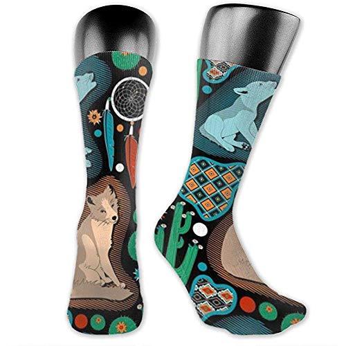 Joy Edward Oposum in Snow Tuba Pattern Sock Novedad Casual Sports Crew Tube Calcetines