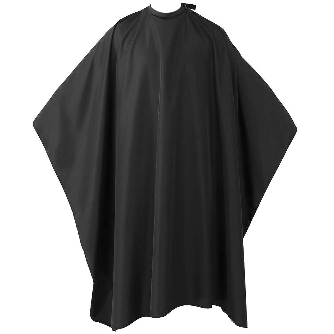 クレア高尚なブラウザヘアーエプロン 散髪マント 散髪ケープ ファミリー理髪 折りたたみ式 防水加工 ヘアスタイリングツール (ブラック)
