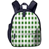 Children's Backpacks Red Picnic Gingham Table Students School Bag Child Kids Casual Daypack Sports Travel Outdoor, Lightweight, for Boys Girls