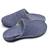Slippers with Arch Support, Comfortable orthopedic Sandals for Plantar Fasciitis Flat Foot House Outdoor, Blue, Women US 11-11.5