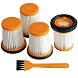 JJDD 4PCS Replacement Vacuum Filter Compatible with Shark W1 WV200 WV201 WV205 WV220 Cordless Handheld Vacuum Cleaner,Compare to Part XHFWV200