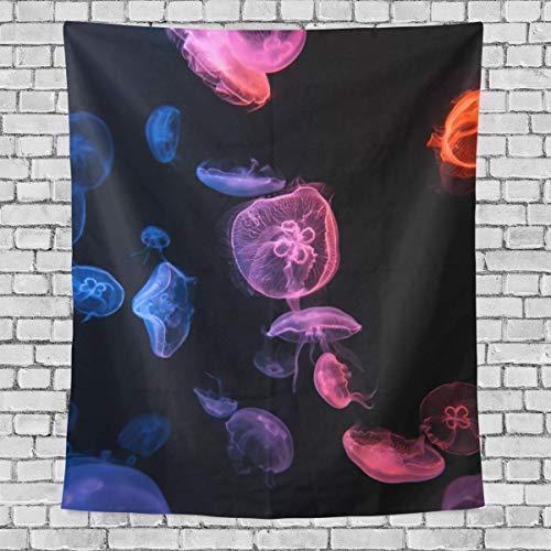 AEMAPE Muchos Hermosos tapices Verticales de Medusas de Colores para Colgar en la Pared, tapices Decorativos Multiusos para Sala de Estar, Sala de Estudio, Entrada y Cocina. 60x40 Pulgadas