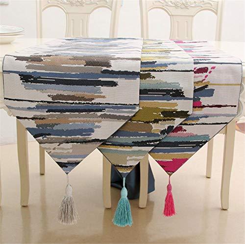 Hinleise Tischläufer, Tischdecke – mit farbigen Streifenmuster, Tischdecke für Tischmatte, Esszimmer, Partymöbel, Dekoration - 4