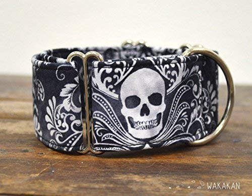Collar Martingale Para Perro: Victorian Skull, Hecho a Mano en España por Wakakán