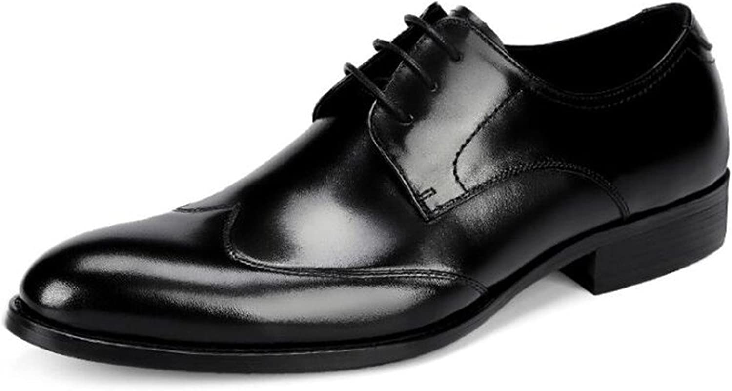 MSFS Men shoes Genuine Leather Business Formal Dress Wedding Lace Up Size 38To 45