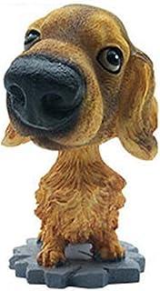 jgashf Cabeza Oscilante Perro Forma Ornamento para Coche Decoración Coche Sentado Postura Inclinado Asiente con la