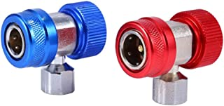 HVAC Connector Extractor,2x R134A Brass MetalAC Air Condition Adjustable Quick Coupler High Low Adapter Connector