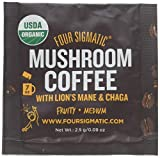 FOUR SIGMATIC Organic Lion's Mane & Chaga Coffee Mix, 0.09 OZ