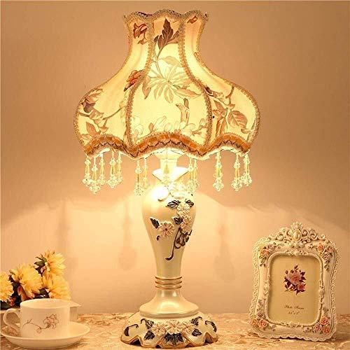 XiaoDong1 Europea y de Moda de diseño LED lámpara de Escritorio, la Artesanía Talla Diseño Cuerpo y Regulable E27 del Perno Prisionero de Dormitorio, Sala de Estar, Decoración, Un