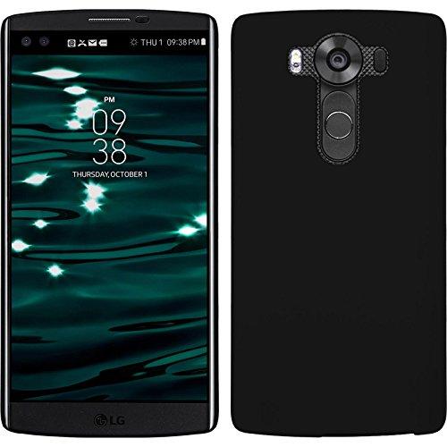 PhoneNatic Case kompatibel mit LG V10 - Hülle schwarz gummiert Hard-case Cover